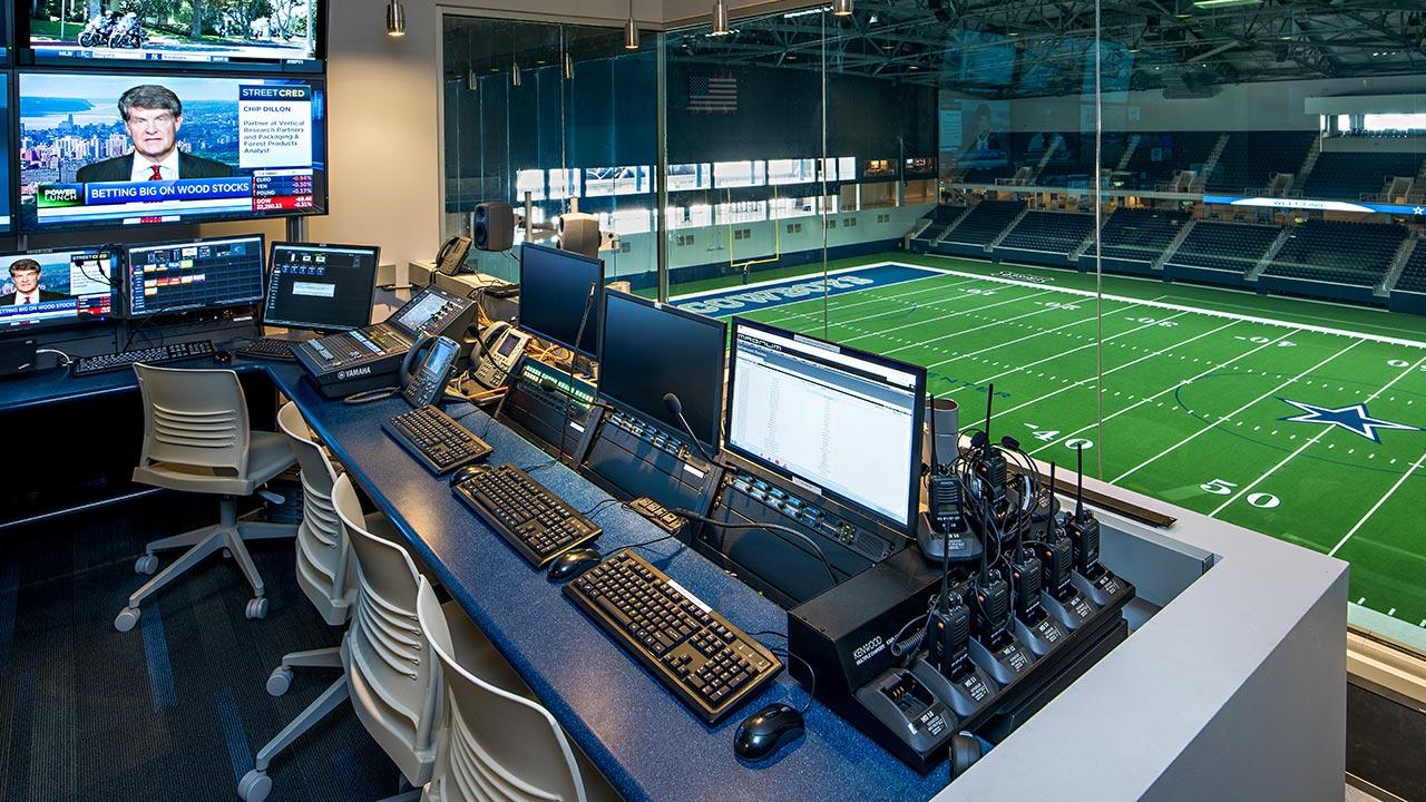 Dallas Cowboys Broadcast Room