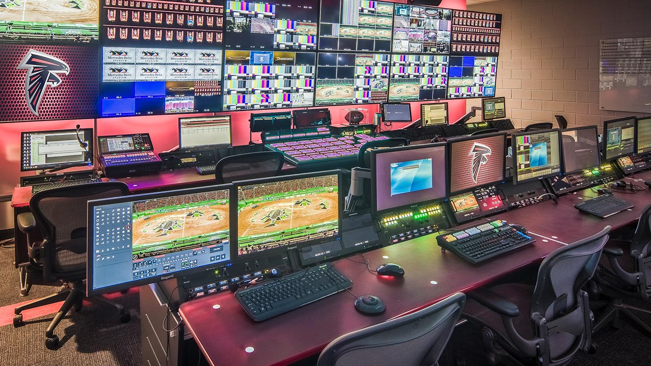 Atlanta Falcons Broadcast Room