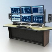 CT-3 with Monitor Beam and custom Natural Corn Lino desktop