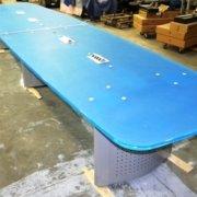 Custom Conference Room Table (blue plexiglass)