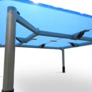 8 position Conference Table (Blue plexi)