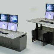 Height adjustable single operator console