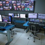 ntegrated IntelliTrac + SmartTrac Control Room with custom audio console