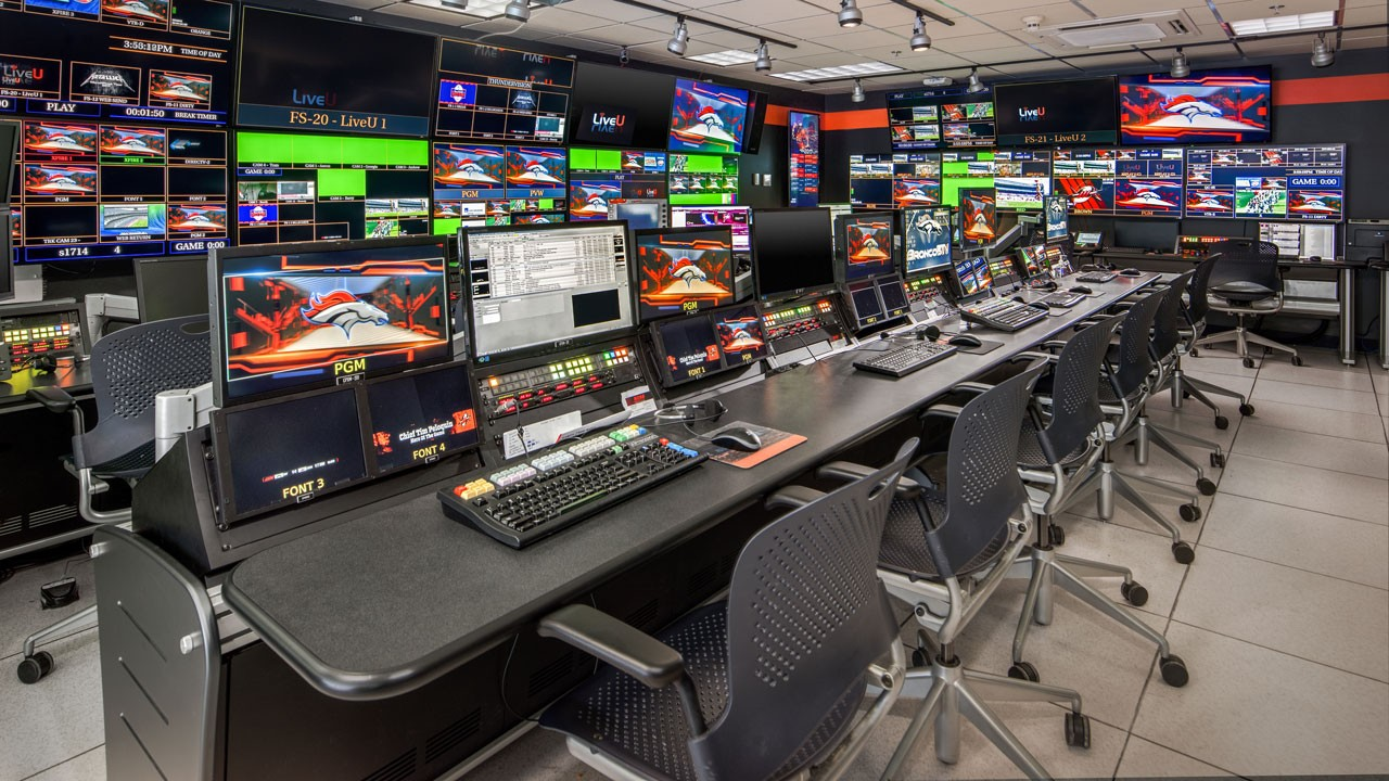 Denver Broncos Broadcast Control Room
