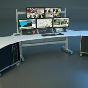 SmartTrac with Nested Carts and 3-bay monitor frame