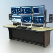 CT-3 with Monitor Beam and custom Natural Corn Lino desktop