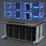 Bi-Level Console with tray for 4 CPUs