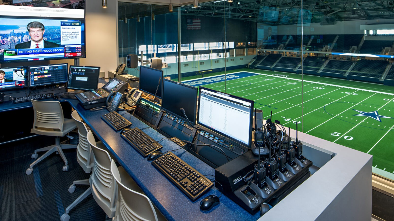 Dallas Cowboys Broadcast Room